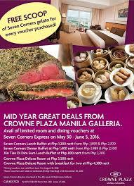 Great Plaza Buffet by Manila Shopper Crowne Plaza Manila Galleria Mid Year Great Sale