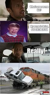 Dwayne Johnson Car Meme - bad luck the rock o 1121642 jpg