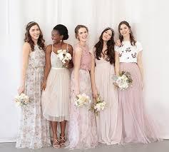 bridesmaid dress ideas unique mix and match bridesmaid dresses bhldn wedding