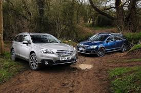 subaru van 2015 subaru outback vs skoda superb outdoor auto express