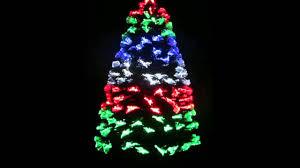 Fibre Optic Slim Christmas Trees - 180cm led fibre optic christmas tree multicolour youtube