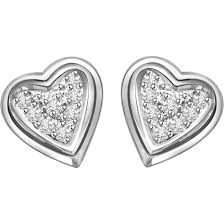 heart shaped earrings heart shaped earrings wholesale diamond gold silver earrings