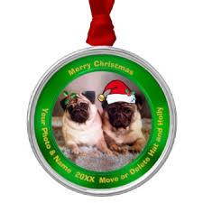 pug tree decorations ornaments zazzle co uk