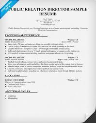 Pr Resume Examples by Public Relation Director Resume Sample Pr Resumecompanion Com