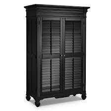 Black Furniture Bedroom Plantation Cove Black Armoire American Signature Furniture