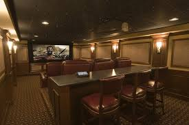 Home Theater Ceiling Lighting Eat Bar Home Theater Traditional With Projection Screen Mount