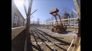 pole barn grade 40 u0027 x 80 u0027 x 12 u0027 menards pole barn kit time lapse