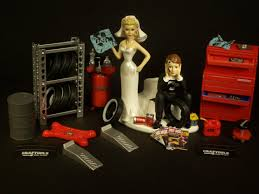 mechanic wedding cake topper wedding cake topper for mechanics auto mechanic tires