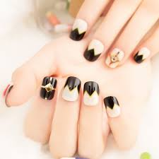 aliexpress com buy french false nails 22pcs beige black