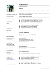 accounting resume template sle resume format for accountant resume for study