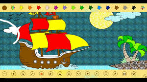 painting and coloring pirate boat colorindo barco pirata diva