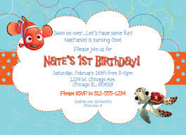 First Birthday Invitation Cards For Boys Finding Nemo Birthday Invitations And Get Ideas How To Make Your