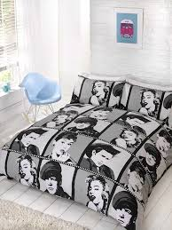 Marilyn Monroe Bedroom Furniture Amazon Com Homespace Direct King Size Duvet Cover U0026 Pillowcases