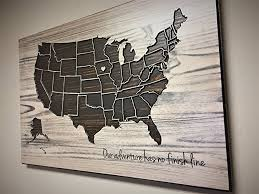 amazon com shabby chic us map decor wood wall art wooden map