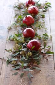 5 minute floral christmas table runner recipe