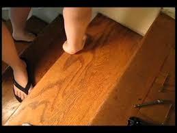 Fix Creaky Hardwood Floors - squeak no more system demonstration youtube