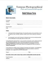 photo release form example
