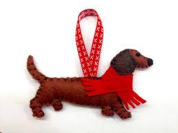 felt dachshund ornament sausage dog ornament doxie wiener dog