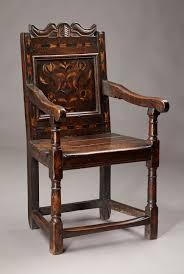 Oak Armchair Mid 17th Century Inlaid Oak Armchair C 1640 To 1650 England