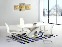 boraam bloomington dining table set dining chairs white extending gloss dining table and 6 chairs