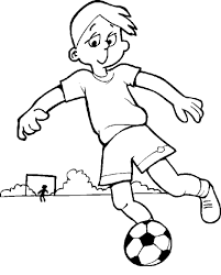 boy playing soccer coloring pages kids bhg printable boys