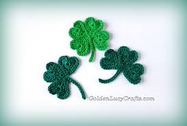 crochet shamrock for st patrick u0027s day and lucky clover appliques