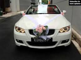 Wedding Car Decorations Wedding Car Decoration Bmw Collection Of Decor Picture Ideas