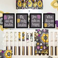 you are my sunshine wall art artwork nursery rhyme quote flower