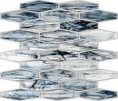 colorful glass tile backsplash blue tamarisk hexagon colorful glass tile backsplash with an iridescent