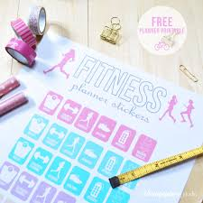 fitness planner stickers free printable download vintage glam