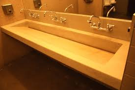 Trough Sink Bathroom Vanity Double Trough Sink Bathroom Vanity Design Charming For Beautify