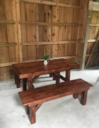 farm tables with benches farmhouse table rentals for weddings showers or any special occasion