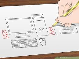 draw computer 12 steps pictures wikihow