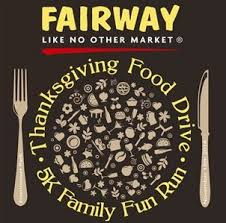the fairway market thanksgiving food drive 5k family run