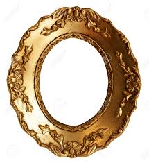 baroque small gold mirror picture frame with ornaments to put