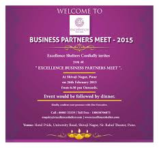 invites only excellence shelter u0027s business partners meet 2015 only for real
