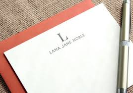 personalized stationary personalized letterpress stationery by dahlia press paper crave