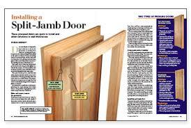 Installing Interior Doors Installing A Split Jamb Door Homebuilding