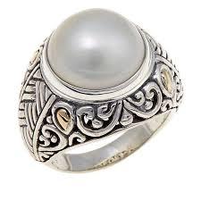 silver rings designs images Bali designs by robert manse cultured mab pearl sterling silver jpg