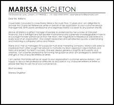 character reference letter reference letters livecareer