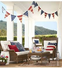 4th Of July Bunting Decorations Dream Porch Look At The Details Via Pottery Barn Fourth Of July