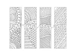 printable zentangle inspired bookmarks coloring sheet 12 4