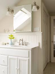 White Cottage Bathroom Vanity by Beadboard Vanity Design Ideas