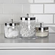 clear glass kitchen canister sets ksp nicole bath canisters set of 3 kitchen stuff plus