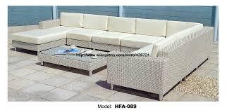 White Rattan Sofa Aliexpress Com Buy Luxury Large Sofa Outdoor U Shaped Rattan