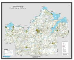 haskell map haskell county wall map 52 x 42