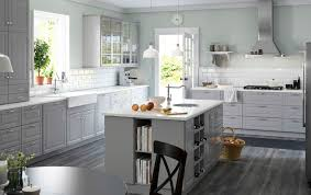 ikea scandinavian kitchen remodel with white cabinets and island