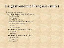 cuisine du nord de la la gastronomie française suite la gastronomie française la