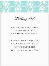 wedding gift list ideas wedding gift invitation wording wedding invitation wording