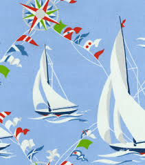 home decor print fabric waverly set sail blue marine joann